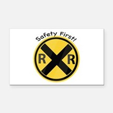 Safety First Rectangle Car Magnet