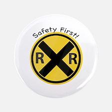 "Safety First 3.5"" Button"