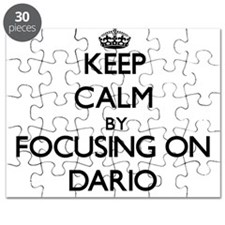 Keep Calm by focusing on on Dario Puzzle
