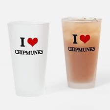 I love Chipmunks Drinking Glass