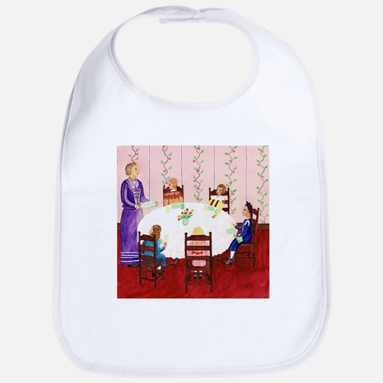 Izzie and the Sewing Club Have Lunch Bib