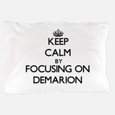 Keep Calm by focusing on on Demarion Pillow Case