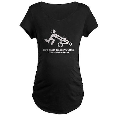 running moms white logo Maternity T-Shirt