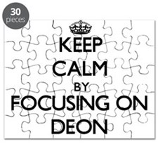 Keep Calm by focusing on on Deon Puzzle
