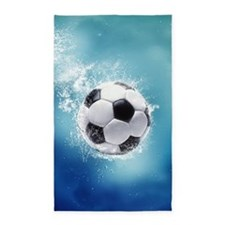 Soccer Water Splash Area Rug