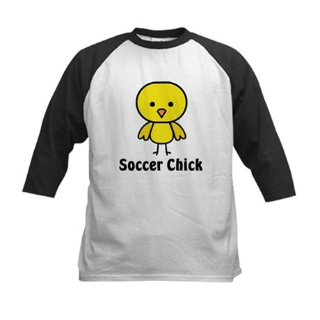 Soccer Chick Kids Baseball Jersey