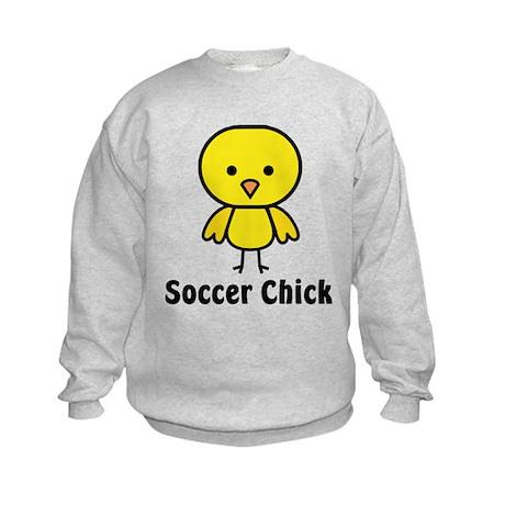 Soccer Chick Kids Sweatshirt