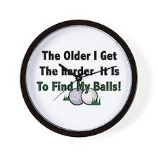 Resden Golf Ball Wall Clock