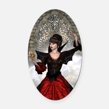 Beautiful Witch Oval Car Magnet