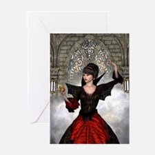 Beautiful Witch Greeting Cards