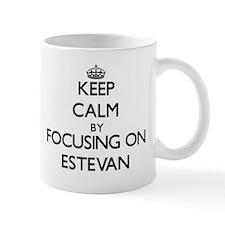 Keep Calm by focusing on on Estevan Mugs