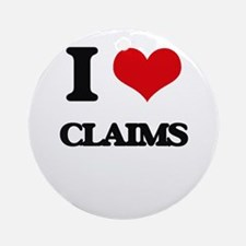 I love Claims Ornament (Round)