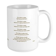Buddha Quote and Gold Ohm Symbol Mug