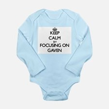 Keep Calm by focusing on on Gaven Body Suit