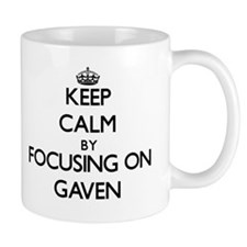 Keep Calm by focusing on on Gaven Mugs
