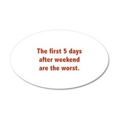 The First 5 Days After Weekend Are The Worst 22x14