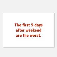 The First 5 Days After Weekend Are The Worst Postc