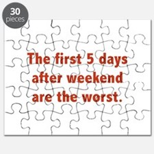 The First 5 Days After Weekend Are The Worst Puzzl