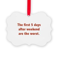 The First 5 Days After Weekend Are The Worst Pictu