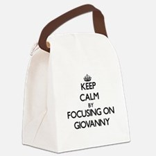 Keep Calm by focusing on on Giova Canvas Lunch Bag