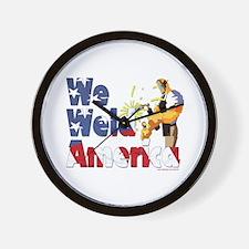 We Weld America Wall Clock
