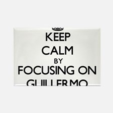 Keep Calm by focusing on on Guillermo Magnets