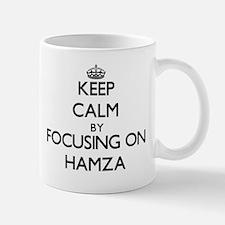 Keep Calm by focusing on on Hamza Mugs