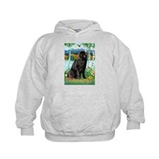 Newfie in the Birches Hoodie