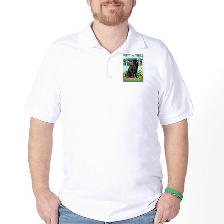 Newfie in the Birches Golf Shirt