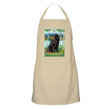 Newfie in the Birches BBQ Apron