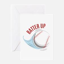 Batter up Greeting Cards