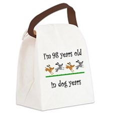 14 dog birthday 1 Canvas Lunch Bag