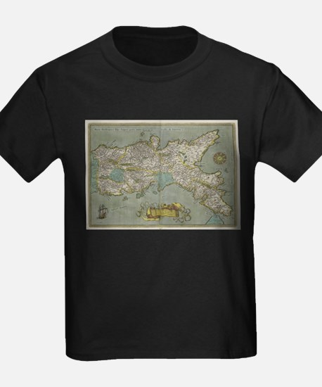 Vintage Map of The Kingdom of Naples (1608 T-Shirt