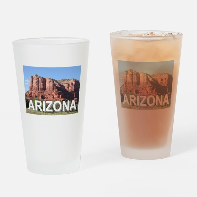 Arizona: rocks near Sedona, USA Drinking Glass