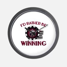 I'd Rather Be Winning Wall Clock