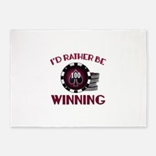 I'd Rather Be Winning 5'x7'Area Rug