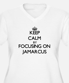 Keep Calm by focusing on on Jama Plus Size T-Shirt