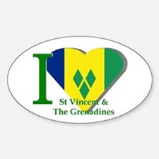 I Love St Vincent & The Grenadines Decal