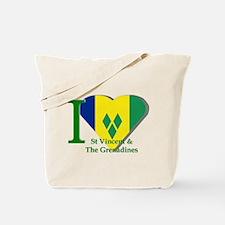 I Love St Vincent & The Grenadines Tote Bag