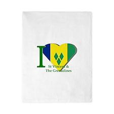 I Love St Vincent & The Grenadines Twin Duvet