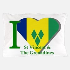 I Love St Vincent & The Grenadines Pillow Case