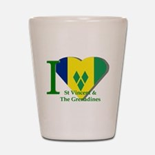 I Love St Vincent & The Grenadines Shot Glass