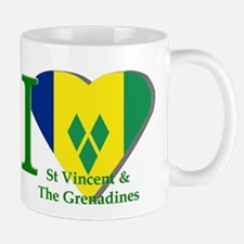 I Love St Vincent & The Grenadines Mugs