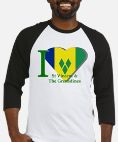 I Love St Vincent & The Grenadines Baseball Jersey