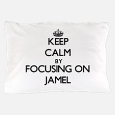 Keep Calm by focusing on on Jamel Pillow Case