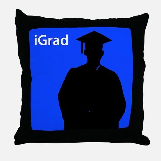 iGrad (male) Throw Pillow