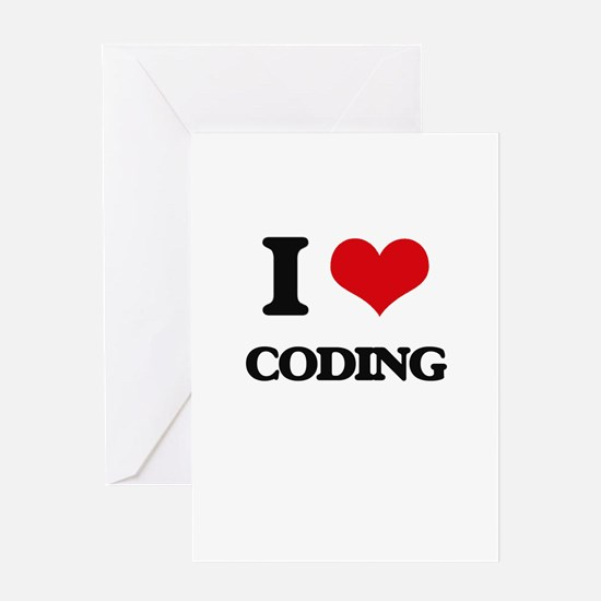 I love Coding Greeting Cards