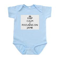 Keep Calm by focusing on on Jamir Body Suit