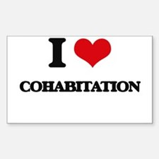 I love Cohabitation Decal