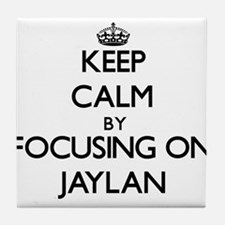 Keep Calm by focusing on on Jaylan Tile Coaster